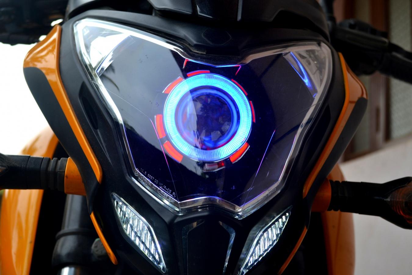 Lampada frontale Predator Pulsar 200Ns con Angel Eyes Sansinnocom-8117
