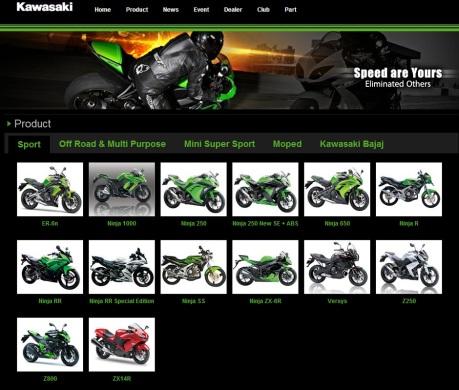 Line Up Sport Kawasaki, Mei 2015